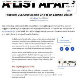 Practical CSS Grid: Adding Grid to an Existing Design · An A List Apart Article