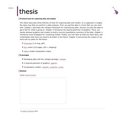 Thesis: practical tools for exploring data and models