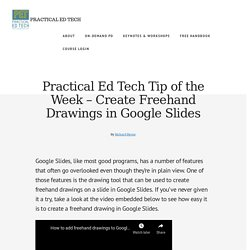 Create Freehand Drawings in Google Slides