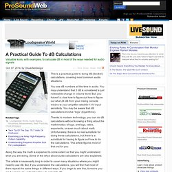 A Practical Guide To dB Calculations
