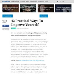 To Improve Yourself