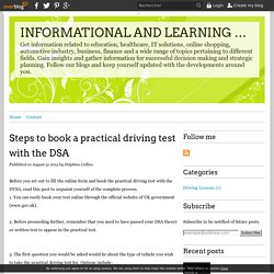 Steps to book a practical driving test with the DSA