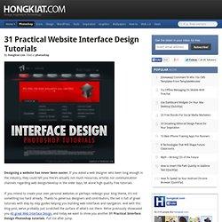 31 Practical Website Interface Design Tutorials