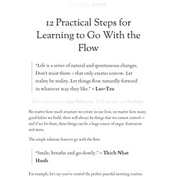 » 12 Practical Steps for Learning to Go With the Flow