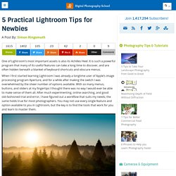 5 Practical Lightroom Tips for Newbies