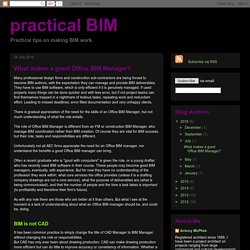 What makes a good Office BIM Manager?