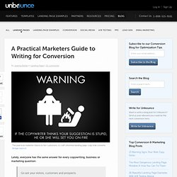 A Practical Marketers Guide to Writing for Conversion