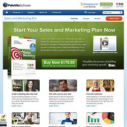 Simple, Practical Sales and Marketing - Palo Alto Software