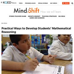 Practical Ways to Develop Students' Mathematical Reasoning