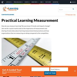 Practical Learning Measurement - eLearning Industry