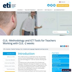 CLIL -Practical Methodology -Teacher Training -ETI Malta : ETI Malta