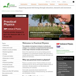 Home | Practical Physics