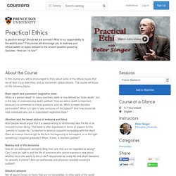 Practical Ethics - Princeton University