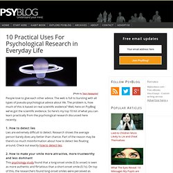 10 Practical Uses For Psychological Research in Everyday Life