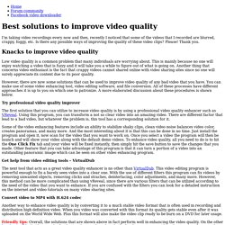 Use practical video quality enhancer to improve video quality easily