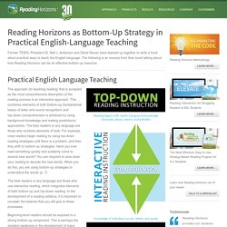 Practical Bottom-Up Strategies for Teaching Reading