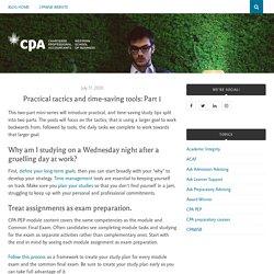 Practical tactics and time-saving tools: Part 1 – CPAWSB Blog