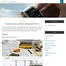 Practical tactics and time-saving tools: Part 2 – CPAWSB Blog
