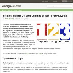 Practical Tips for Utilizing Columns of Text in Your Layouts