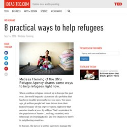 8 practical ways to help refugees