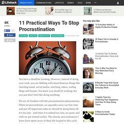 11 Practical Ways To Stop Procrastination