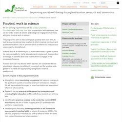 Practical work in science