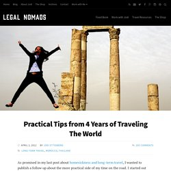 Practical Tips from Four Years of Worldwide Travel