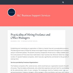 Practicality of Hiring Freelance and Office Managers