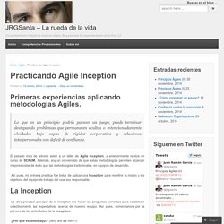 Practicando Agile Inception