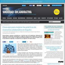 Cinco ejes para mejorar las prácticas de economía colaborativa en España