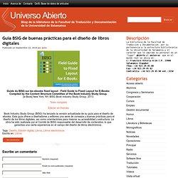 Guía BSIG de buenas prácticas para el diseño de libros digitales