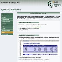 Prácticas Excel: BuscarV