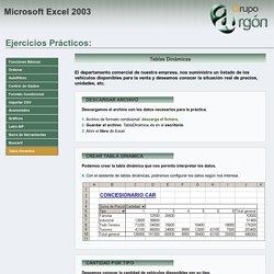Prácticas Excel: Tabla Dinámica