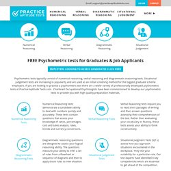 FREE Online Aptitude Tests FREE Practice Aptitude Tests for Job Applicants & Graduates