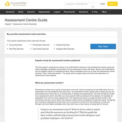 Practice Assessment Centre Exercises