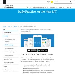 SAT Suite of Assessments – The College Board