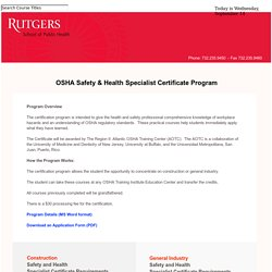 Office of Public Health Practice Certificate Program