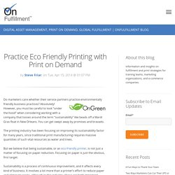 Practice Eco Friendly Printing with Print on Demand
