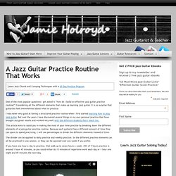 A Jazz Guitar Practice Routine That Works