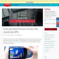 Chat App Best Practice Guide with JavaScript APIs