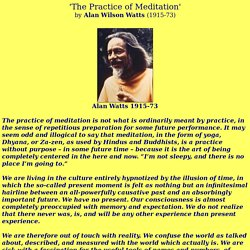 'Practice of Meditation - www.thoughtfreemeditation.com