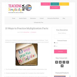 10 Ways to Practice Multiplication Facts
