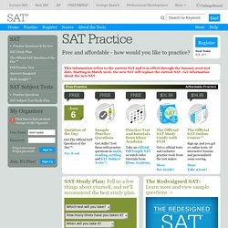 SAT Practice – Prepare with Official SAT Test Prep Questions - The College Board