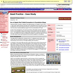 ICT Good Practice Case Study - Holy Family Primary School & Cuffley School