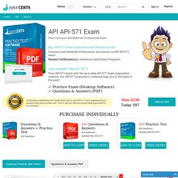 API-571 API Practice Questions - Pass API-571 Exam