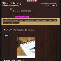 Practice Updates Regarding Coronavirus – St. James Dental Group