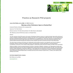 Parip/Practice as Research in Performance