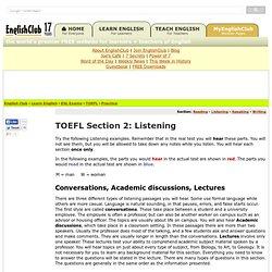 TOEFL Practice, Section 2: Listening