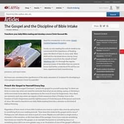 Practice the Spiritual Discipline of Daily Bible Reading for Gospel Growth
