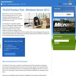 70-410 Practice Test - Windows Server 2012
